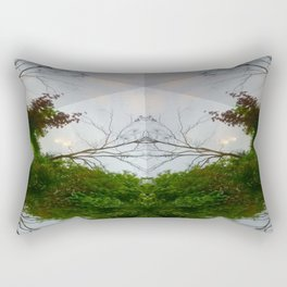 Crossing The Bridge Rectangular Pillow