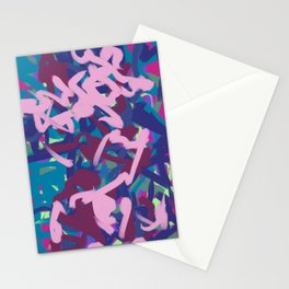 Pink & Teal Thick Abstract Stationery Cards
