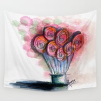 balloon Wall Tapestries featuring balloon by Onde di Tela by Antonella Franco