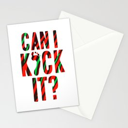 Can I Kick It Art Stationery Cards
