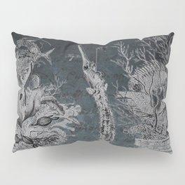 Victorian Zoological Study, Ocean life Specimens - Vintage Art Collage Pillow Sham