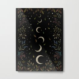 Crescent Moon Garden Metal Print