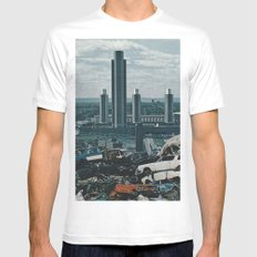 Collage No.57 White MEDIUM Mens Fitted Tee