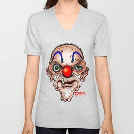 Clown with one tooth Unisex V-Neck