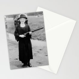 Annie Oakley Holding Rifle - 1922 Stationery Cards