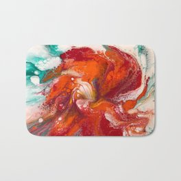 Orange Flower Craze Bath Mat