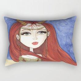 Desert Queen Rectangular Pillow