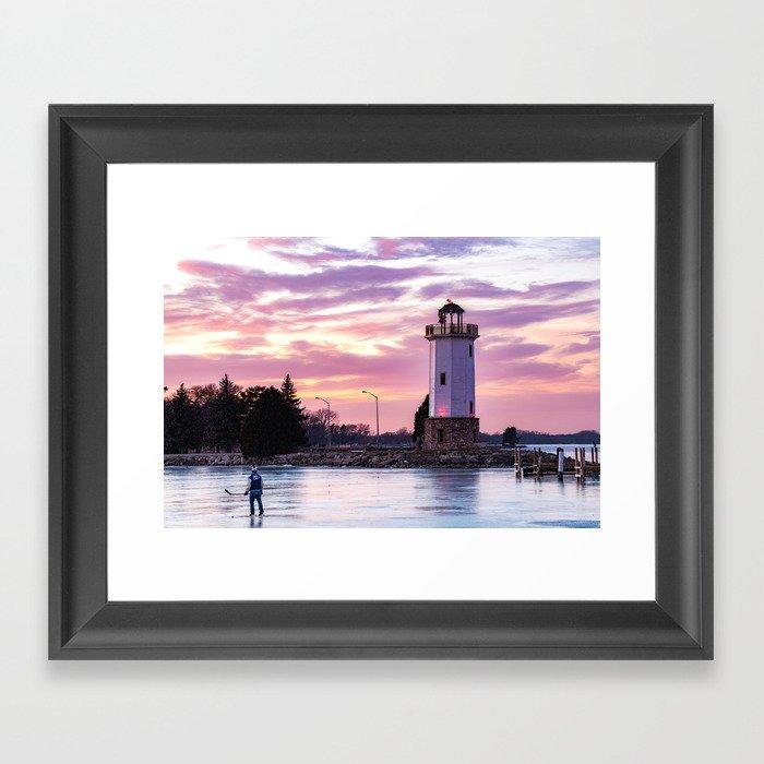 Lakeside Park Framed Art Print