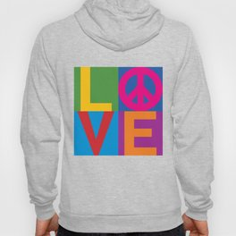 Love Peace Color Blocked Hoody
