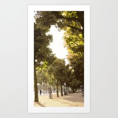 Champs Elysees Art Print