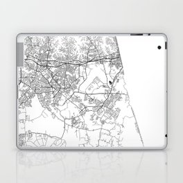 Minimal City Maps - Map Of Virginia Beach, Virginia, United States Laptop & iPad Skin