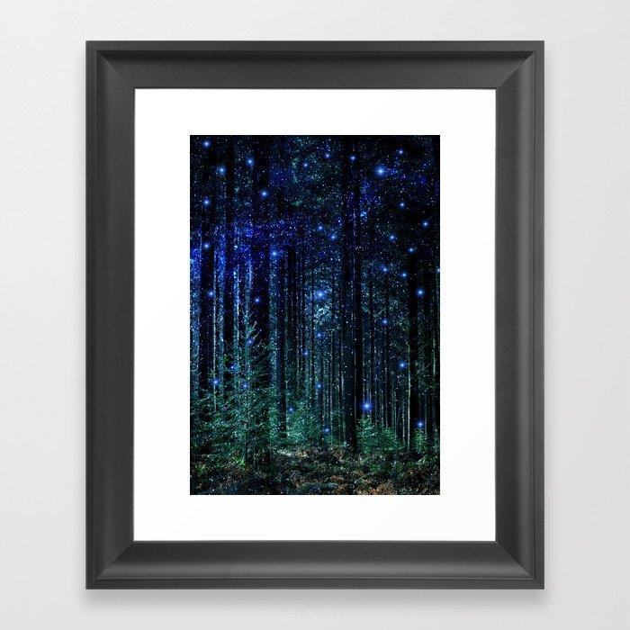Magical Woodland Gerahmter Kunstdruck