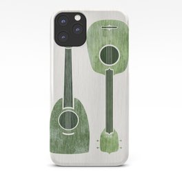 Hawaiian Ukuleles - Emerald Green iPhone Case