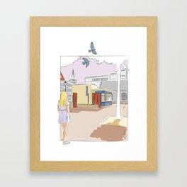 Girl at the kiosk  Framed Art Print