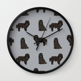 Havanese black coat dog breed gifts pure breed must haves Wall Clock