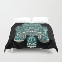 r2d2 Duvet Covers featuring R2D2 by trevacristina