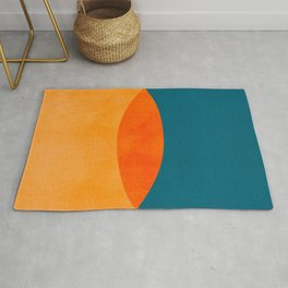 Mid Century Eclipse / Abstract Geometric Rug