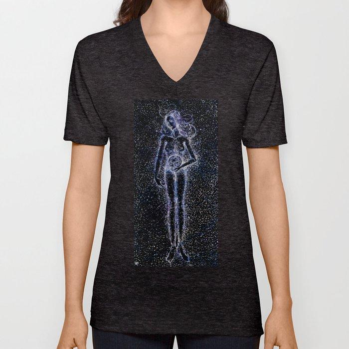 Nuit - The Starry Goddess Unisex V-Neck