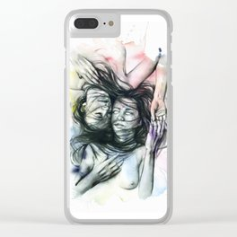 Loneliness my only friend Clear iPhone Case