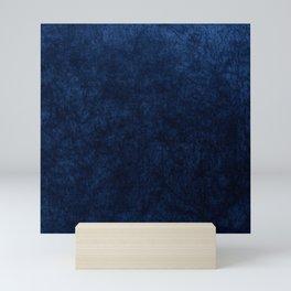 Royal Blue Velvet Texture Mini Art Print