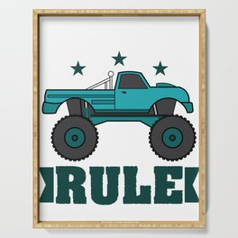 """""""Monster Trucks Rule"""" luxurious and glorious inspired tee design for rider like you! Serving Tray"""