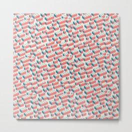 Building Blocks Pattern – Colour Metal Print