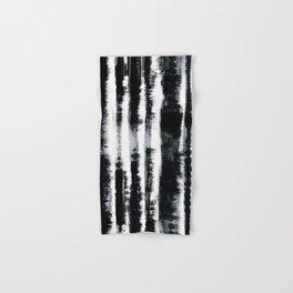 Tie-Dye Shibori Stripe BW Hand & Bath Towel
