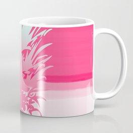 Pink Pineapple Tropical Beach Design Coffee Mug