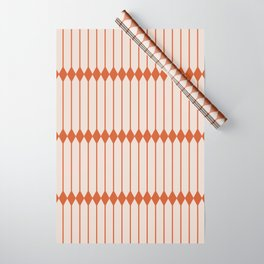 Minimal Geometric Pattern - Coral Wrapping Paper