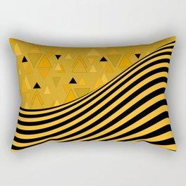 Yellow , black , striped Rectangular Pillow
