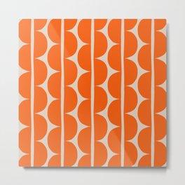 Funky Mid Century Modern Stripes 128 Metal Print