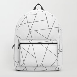 Abstract modern chic minimalist grey white triangles geometric pattern Backpack