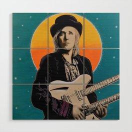 Tom Petty Tribute Mural (2019 Birthday Bash, Gainesville Florida) Wood Wall Art