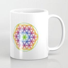 Rainbow Flower of Life - Rainbow Tribe Collection Coffee Mug