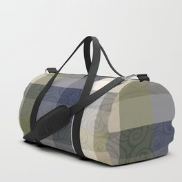 Chambray Fiord Swirly Plaid Duffle Bag