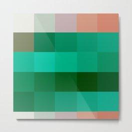 Pixels: Emerald Green Metal Print