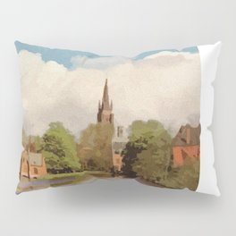 The Lake of Love Bruges art Pillow Sham