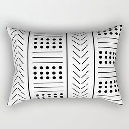 digital african mud cloth Rectangular Pillow