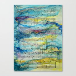 Tonal Conversations: Jazz Orchestra and Painted Animation Canvas Print