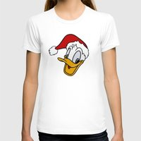 donald duck T-shirts featuring Christmas Donald Duck by Yuliya L