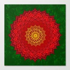 okshirahm rose mandala Canvas Print