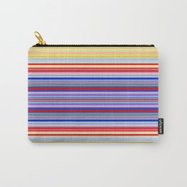 Rainbow Stripes Design Carry-All Pouch