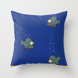 Feed The Fish Throw Pillow