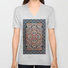 Bohemian Oriental Traditional Moroccan Illustration Design Unisex V-Neck