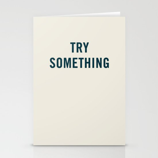 Try Something Stationery Cards