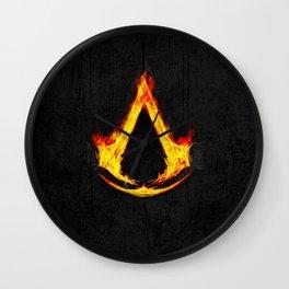 Creed Assassin Flame Wall Clock