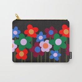 Bloom Where You Are Planted   black Carry-All Pouch