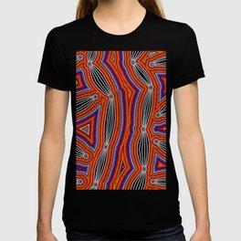 Authentic Aboriginal Art - Neurum Creek Bush Tracks T-shirt