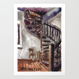 The church of sorrow: Bremblens Art Print