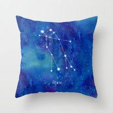 Constellation Gemini Throw Pillow